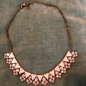 Vintage look necklace by J.Crew, White and Gold